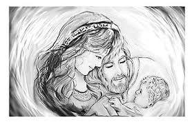 Risultati immagini per immagini sacra famiglia bianco e ...