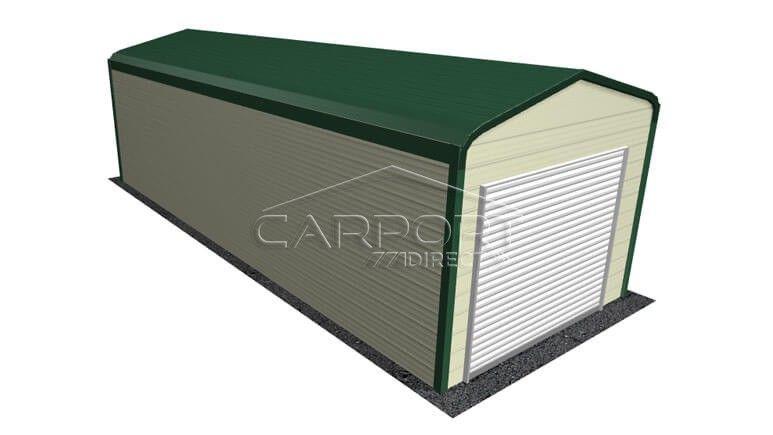 12 X 31 Regular Roof Metal Garage Roll Up Doors Metal Garages Metal Roof