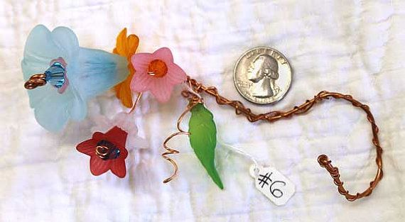 Copper Wire Flowers 6 detailed and handmade by MollyRobertsArt. https://www.etsy.com/listing/209228463/copper-wire-flowers-6-detailed-and?ref=shop_home_active_1