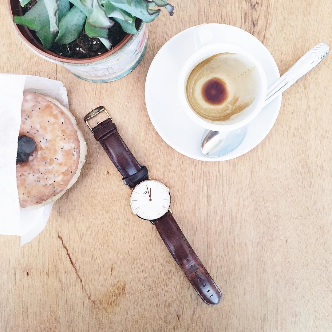 Donuts coffee and time with new friends - a wonderful end to any week in #Paris   Oh don't forget that the generous folk at @danielwellington have kindly given all #madefromscratch readers 15% off all their products plus if you buy a watch now you also get a strap of your choice for free how lovely is that. Simply use the code MADEFROMSCRATCH #danielwellington @doughmade #doughnuts #coffee #madefromscratch