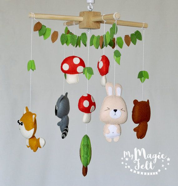 Baby Mobile Woodland Crib Mobile Animals Tribal Baby Mobile Etsy Baby Mobile Animal Nursery Mobile Tribal Baby
