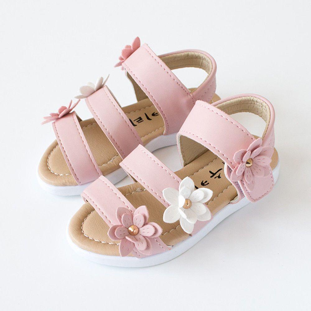 47c011d3308e6d  8.45 - Kids Girl Children Sandals Beach Shoes Big Flower Soft Girls Flat  Pricness Shoes  ebay  Fashion