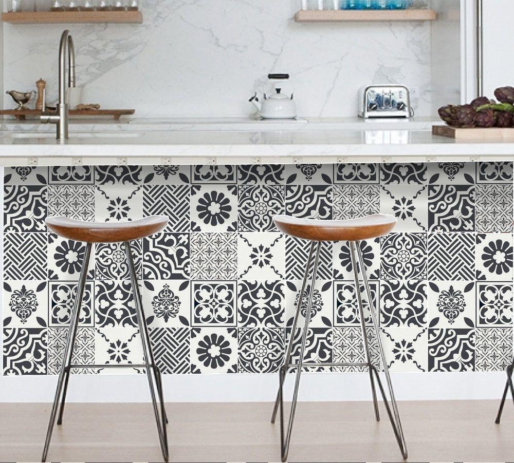 stickers carrelage carrelage pour cuisine salle de bain. Black Bedroom Furniture Sets. Home Design Ideas