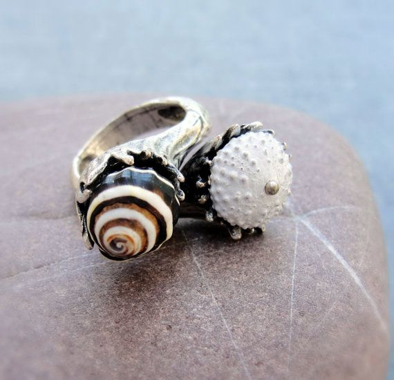 Sea Urchin Collection  The Black and White Duo by StaroftheEast, $55.00