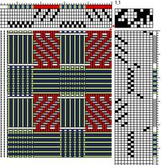 red and green plaid weaving drafts - Google Search