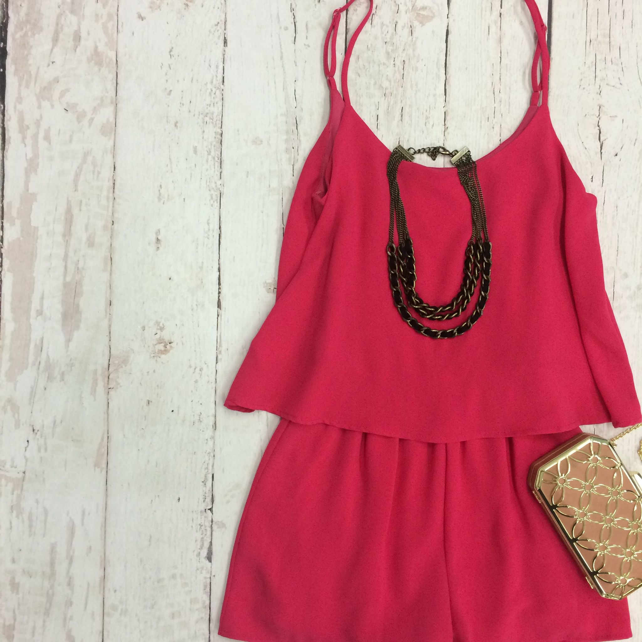 Sweet On Fuchsia Romper