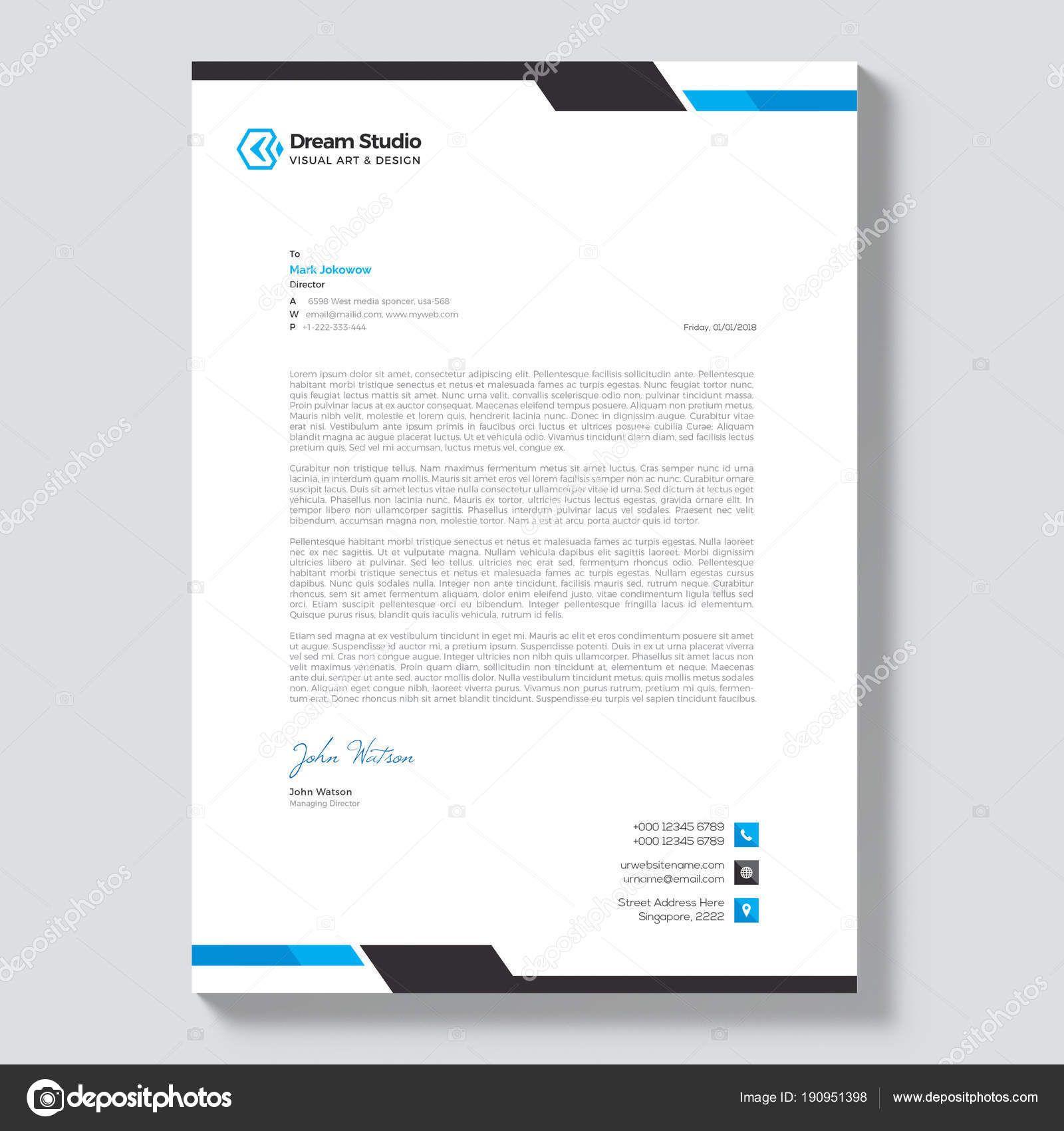 Download Modern Company Letterhead Template — Stock