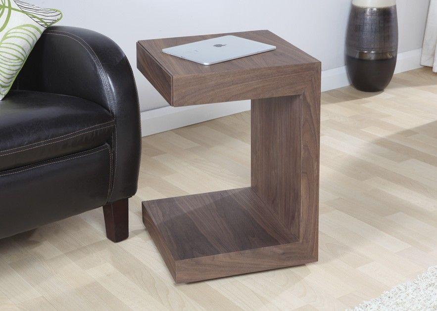 Jual Furnishings Designer Lamp / Side / End Table In Walnut   JF625 UT    Designed