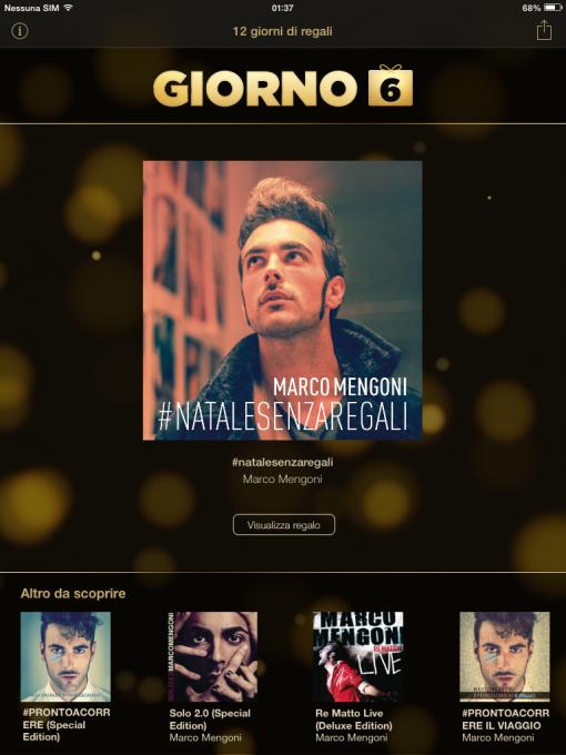 Su iTunes l'EP #natalesenzaregali di Marco Mengoni in download gratuito per un giorno