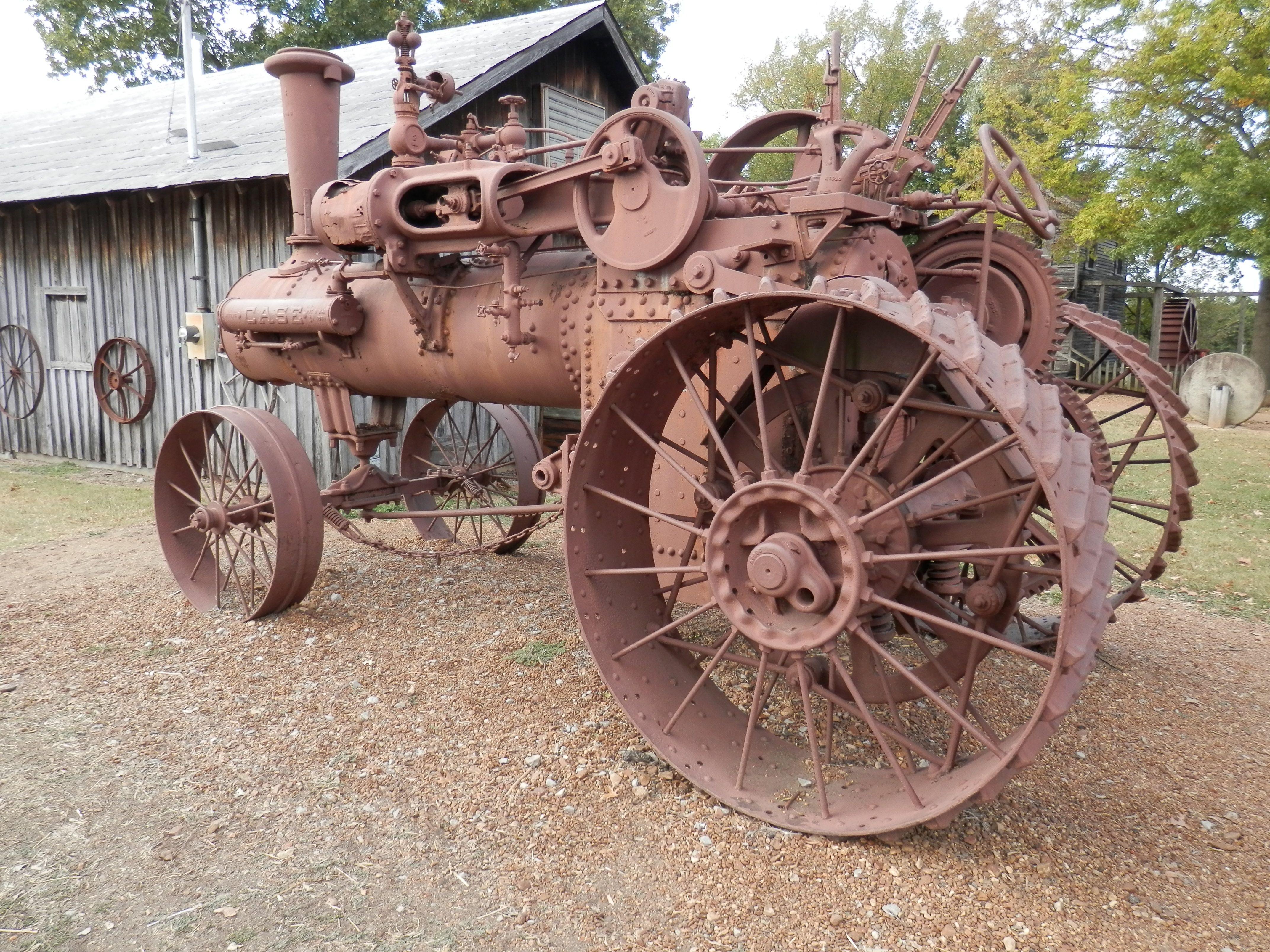 VIntage 1890's Case Steam Driven tractor - Cannonsburgh Village, Murfreesboro - October 2016