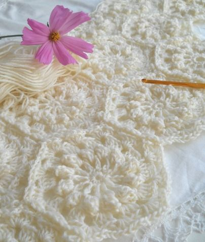 Aplicaci n para colcha 1 motivos aplicaciones - Aplicaciones de crochet para colchas ...