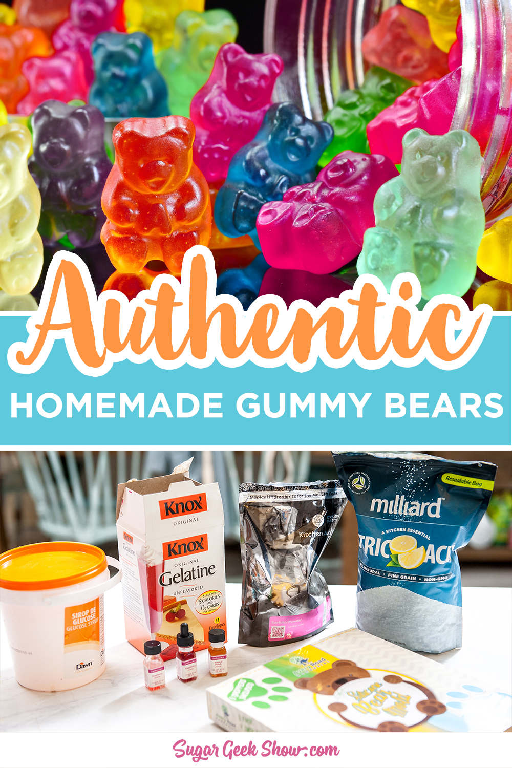 Authentic Gummy Bear Recipe Video Sugar Geek Show Recipe In 2020 Bear Recipes Gummies Recipe Homemade Gummies