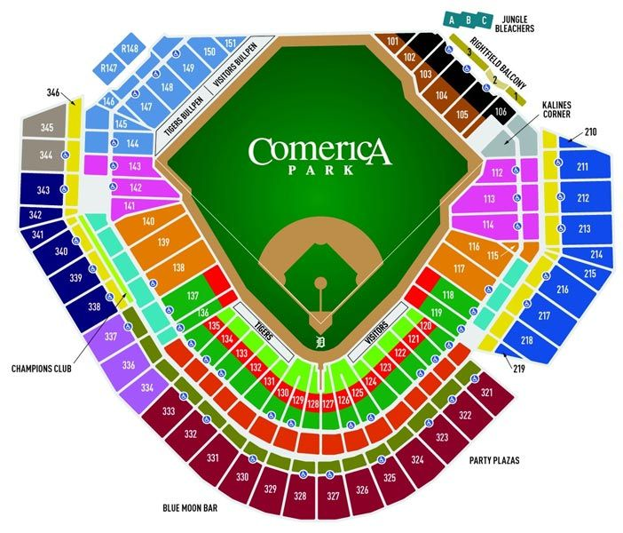 Awesome Comerica Seating Chart erica park seating chart rows awesome 20 awesome erica park