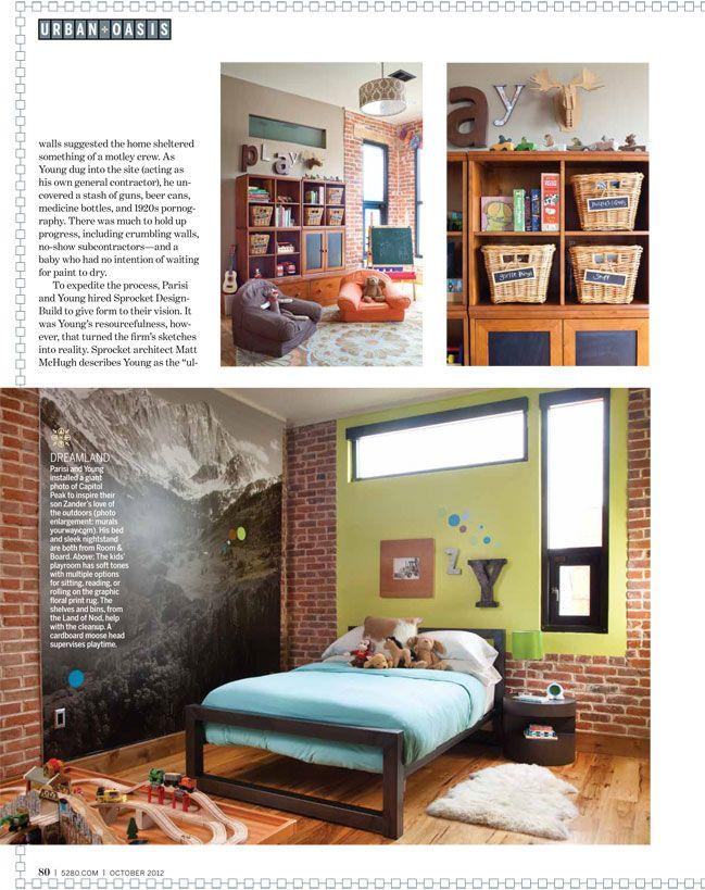 Denver remodel-- large wallphoto of Capital Peak on wall. Love.