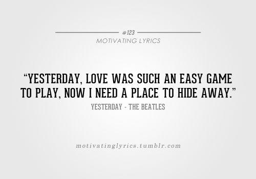 beatles lyrics yesterday - 500×350