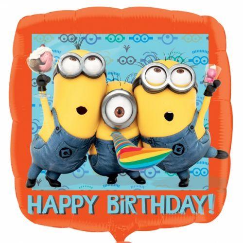 Minions Happy Birthday standard foil balloon http://www.wfdenny.co.uk/p/minion-happy-birthday-foil-balloon/5155/