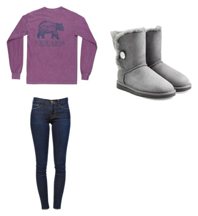 """""""Untitled #110"""" by chantelb233 on Polyvore featuring Frame Denim and UGG Australia"""