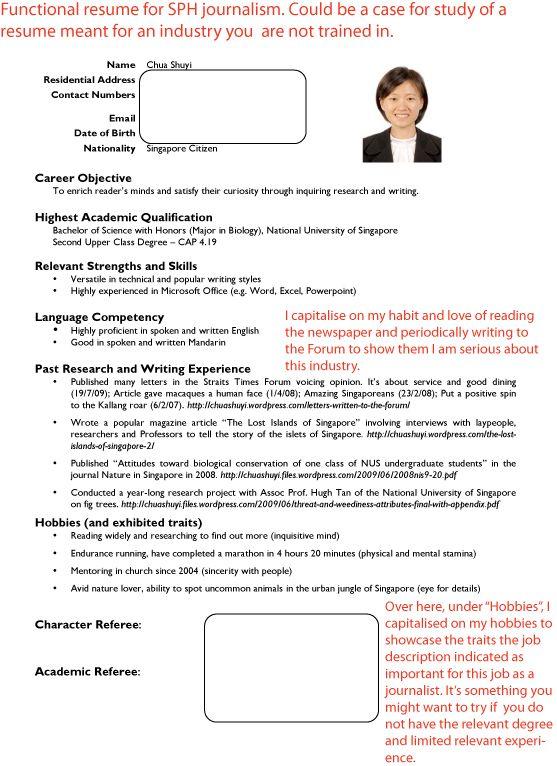 Jobstreet Pinterest Resume writer, Job description and Template - journalism resume template