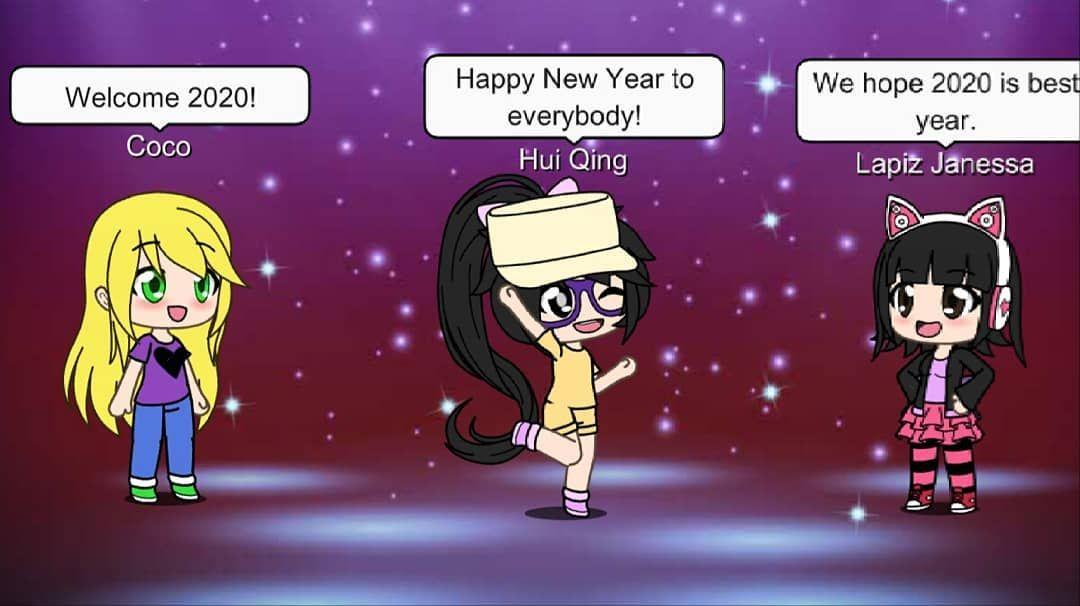 Happy New Year Everybody I M Lazy To Draw New Year Draw So I Use Gacha Life Bye Bye 2019 Welcome 2020 Happyn Happy New Year Happy Newyear