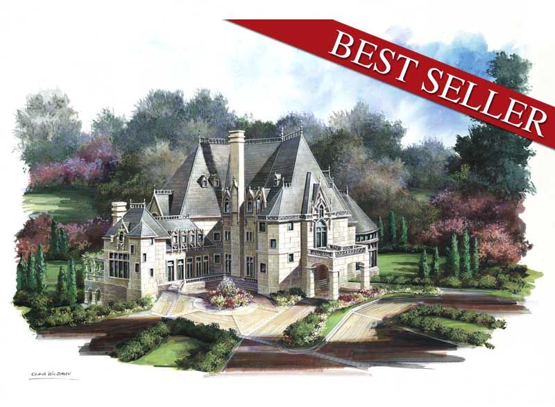Chateau Novella 6039 6 Bedrooms And 6 Baths The House Designers Luxury House Plans French House House Plans