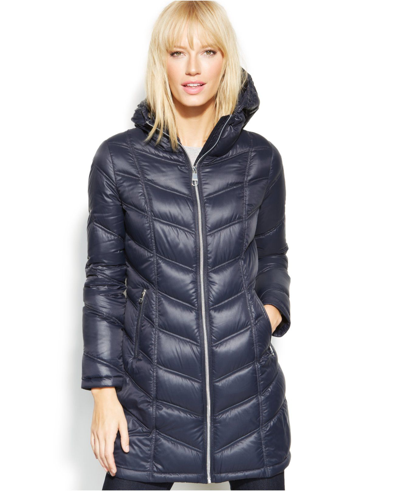Calvin Klein Quilted Down Packable Puffer Coat - Coats - Women - Macy s 8ac0371f5d