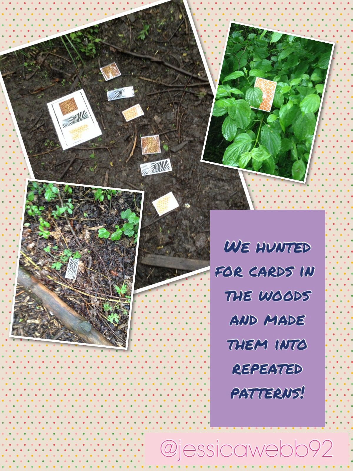 Making Repeated Patterns In The Woods Eyfs