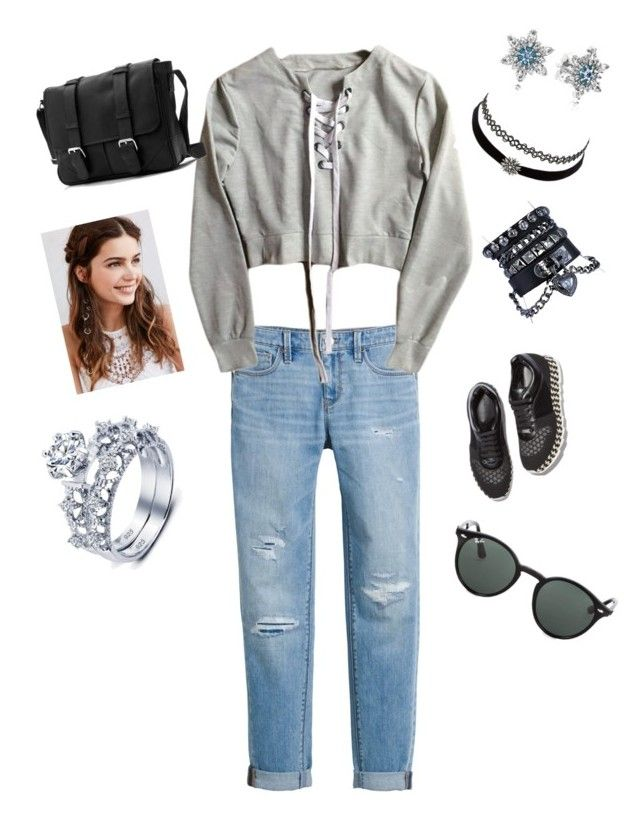 """Untitled #108"" by wilhendr on Polyvore featuring White House Black Market, Charlotte Russe, Regal Rose, Pandora, Ray-Ban and STELLA McCARTNEY"