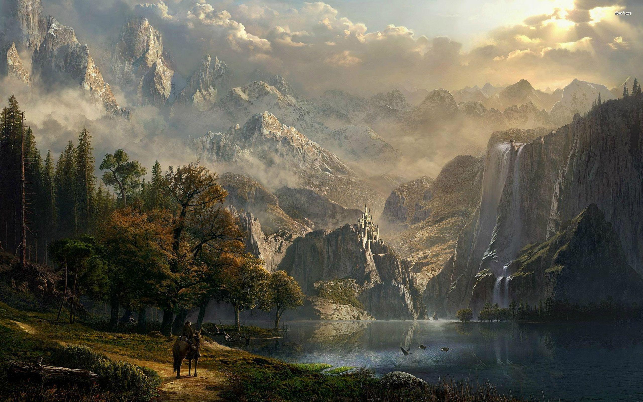 Fantasy Wallpaper Desktop Background Hupages Fantasy Landscape Fantasy City New Fantasy