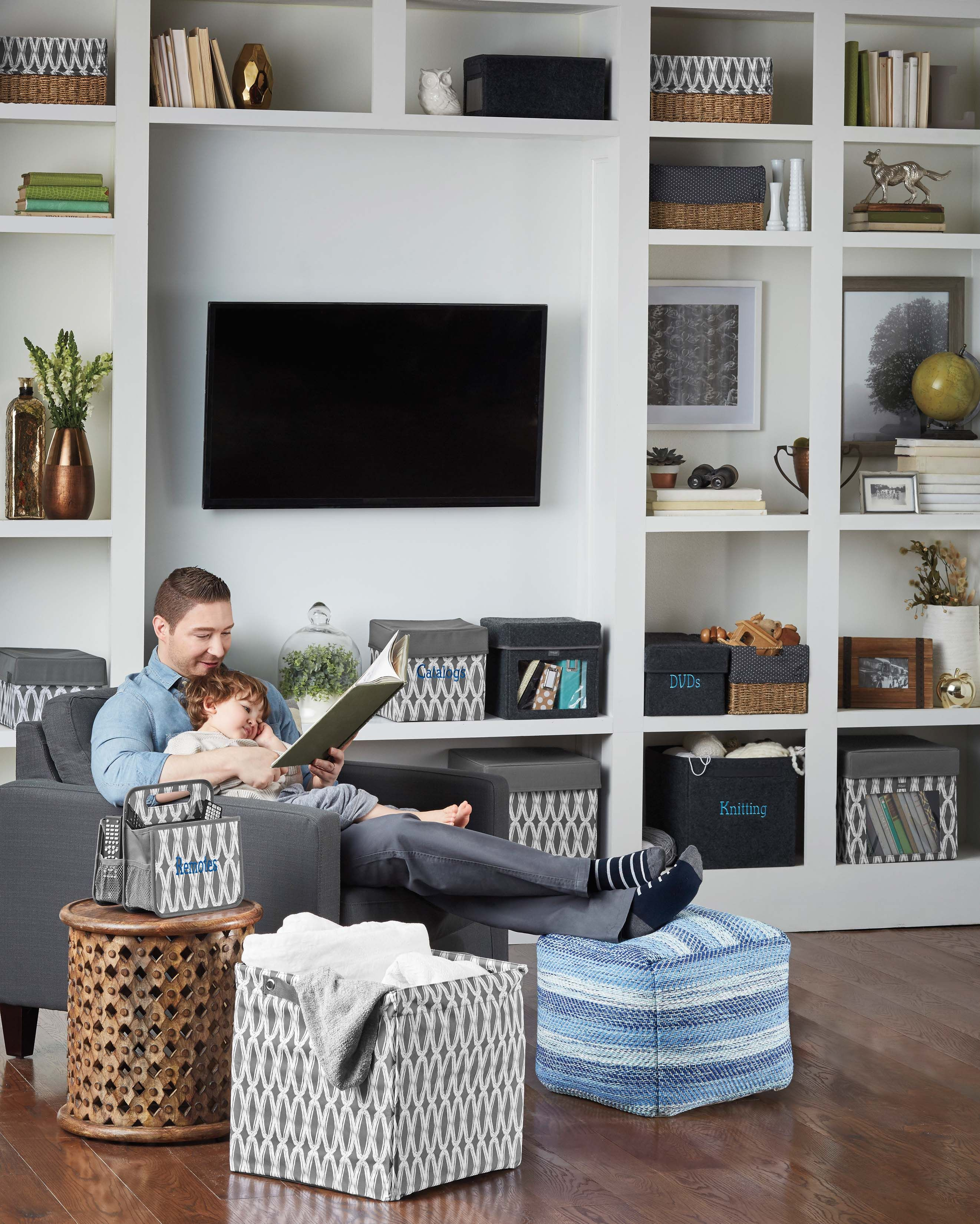 Living Room Organization Ideas For Interior Design Thirty One Gifts Love Using The Square Storage Bin Blankets Charcoal Links Is A Great Neutral Compliment To Any Home