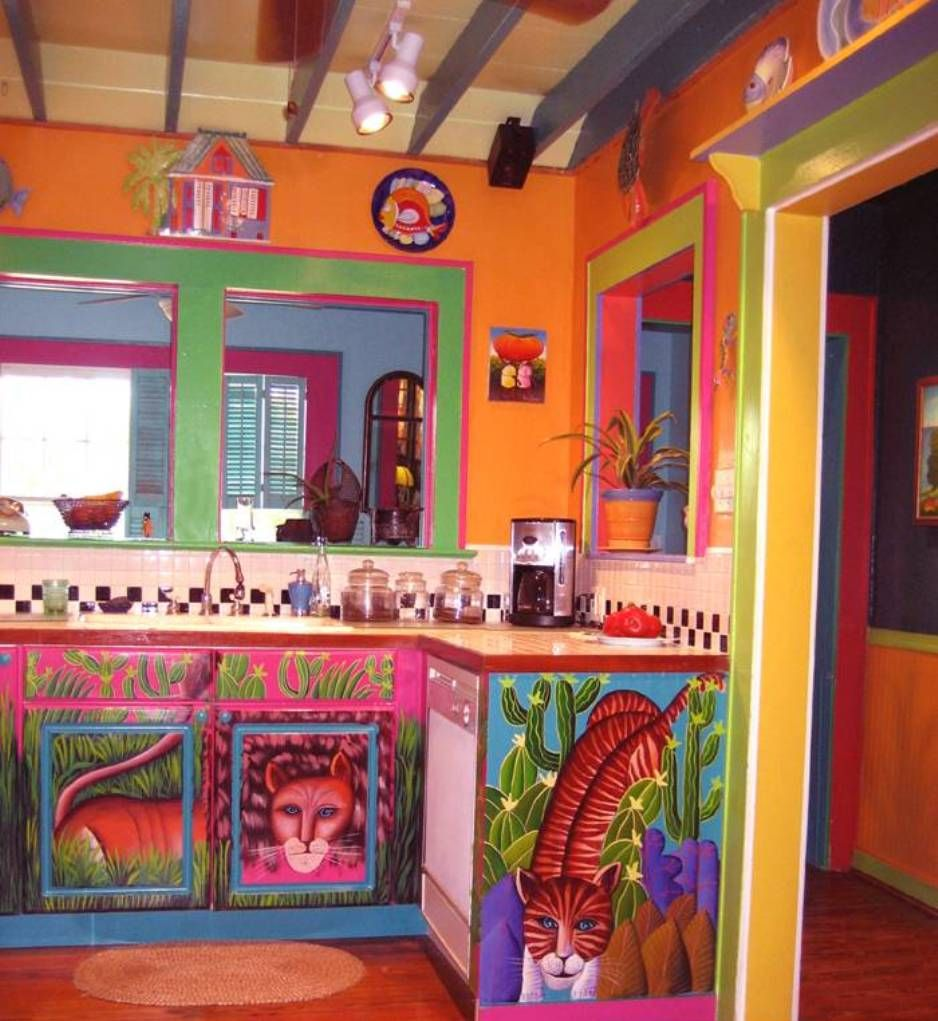 Home Designs And Decor , Mexican House Interior : Colorful