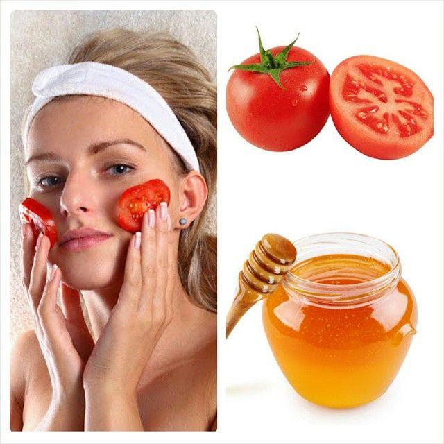 MASCARILLA DE TOMATE Y MIEL PARA PIEL GRASA, ESPINILLAS Y ACNÉ! TIP Corta el tomate por la mitad y … | Mascarilla de tomate, Piel grasa, Maquillaje para piel grasa