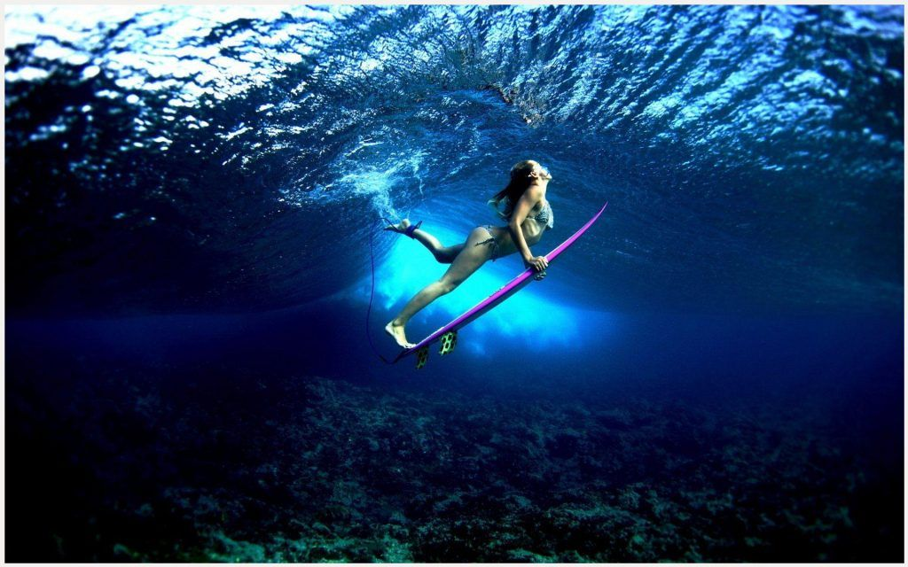 Surf Girl Swimming Wallpaper Surf Girl Swimming Wallpaper