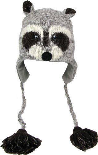DeLux Raccoon Face Wool Pilot Animal Cap/Hat « Clothing Impulse
