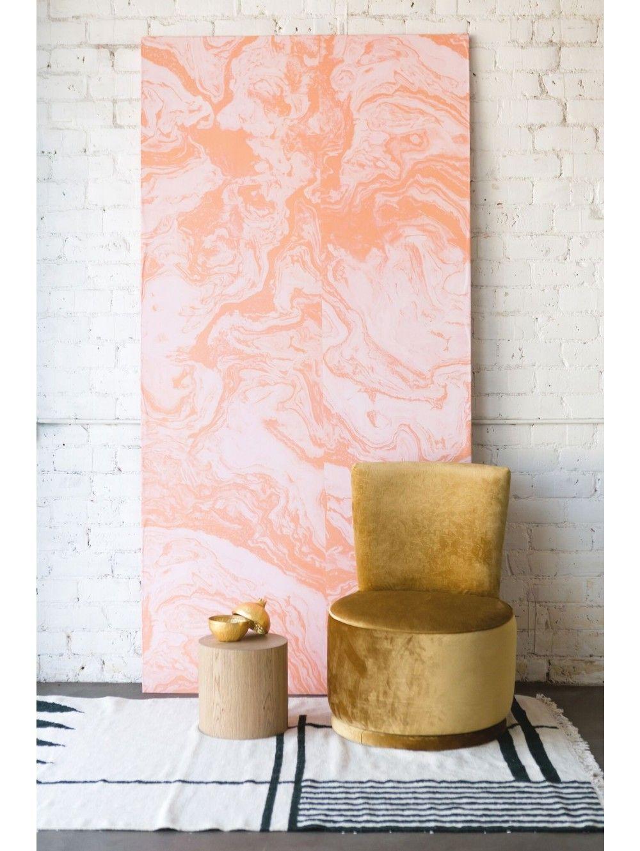Pink Marble Wallpaper Mural by Sarah Sherman Samuel Shop the look with Lulu and Georgia! #LANDGATHOME