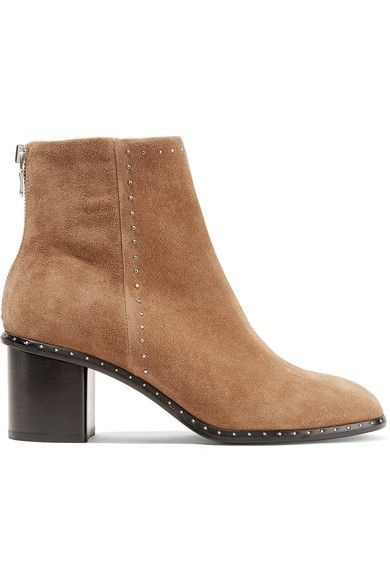RAG&BONE Willow Studded Suede Ankle Boots - Camel View Cheap Online XbCIMnVdv