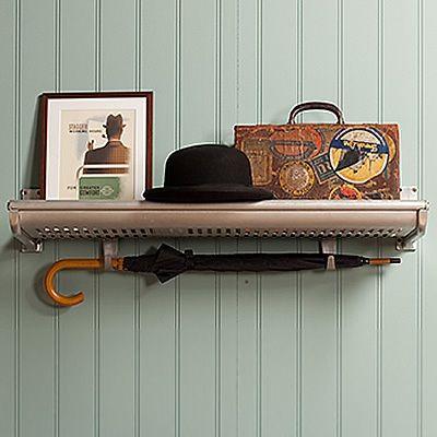 Original Metropolitan line luggage racks.   Shelving for somewhere?