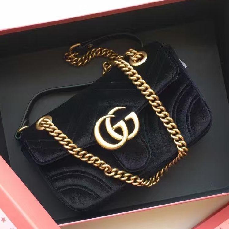 b8139295946217 $218 Gucci GG Marmont Velvet Mini Shoulder Bag 443497 2016 Email:  winnie@shoescrazy.net
