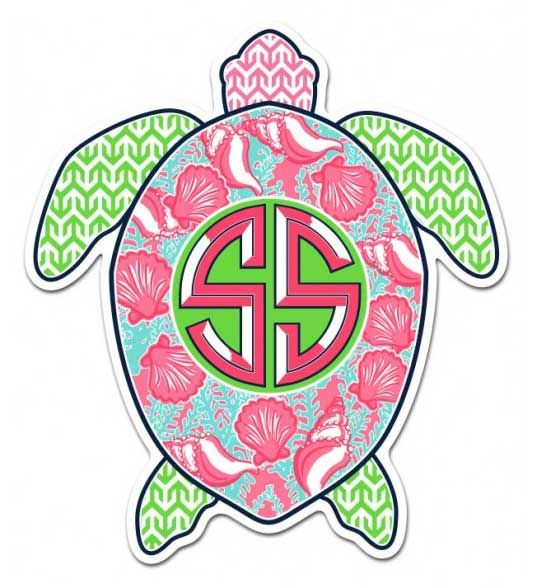 Simply southern preppy stickers turtle decal turtle