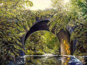 Bridge Painting - Forgotten Train Bridge by Carol Sweetwood