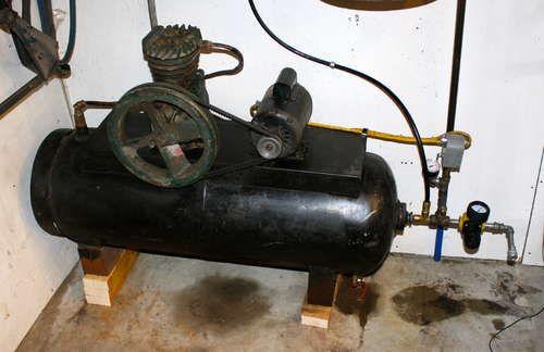 100 lb propane tank homemade air compressor propane. Black Bedroom Furniture Sets. Home Design Ideas