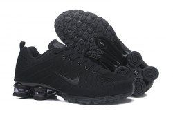 best sneakers 6e593 41ec7 Nike Air Shox Flyknit Triple Black Shox R4 Men s Athletic Running Shoes