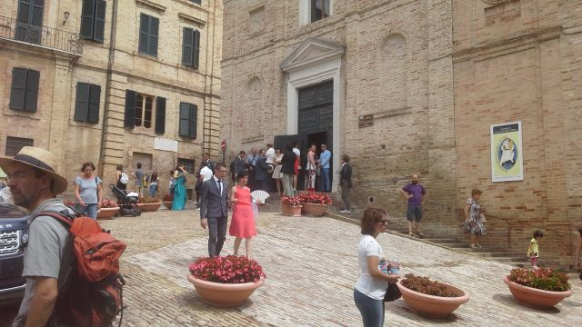 In the piazza
