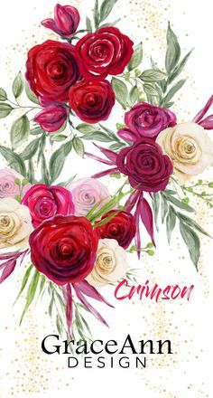Floral clip art fashion clipart red pink white flowers roses wedding floral clip art fashion clipart red pink white flowers roses wedding flowers bouquets diy burgundy roses digital clipart logo diy card mightylinksfo