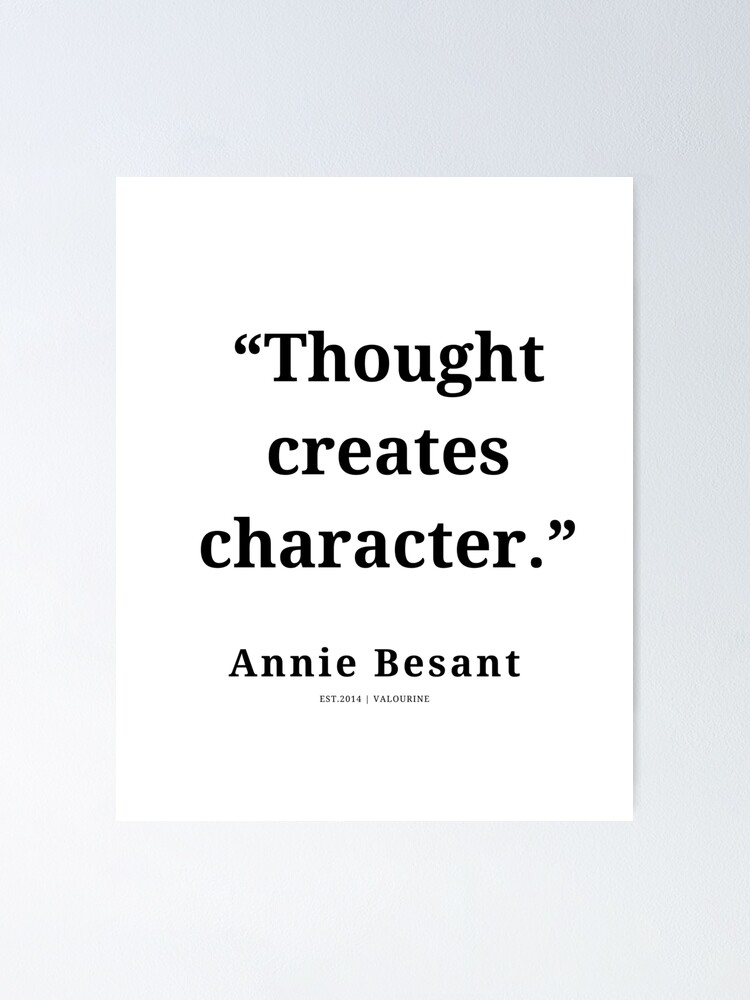 13  | Annie Besant Quote| 210311| New Thoughts  Poster by QuotesGalore