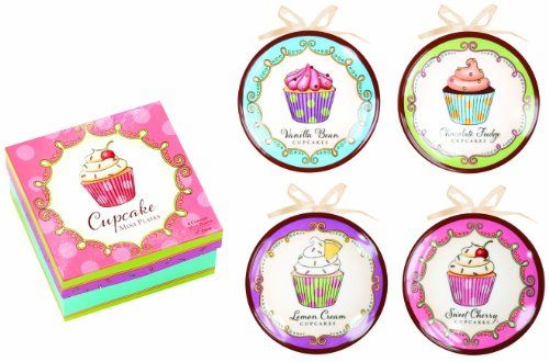Cupcakes Decorative Mini Plate Set - Serve up sweet treats to your Valentine with these adorable  sc 1 st  Pinterest & Cupcakes Decorative Mini Plate Set - Serve up sweet treats to your ...