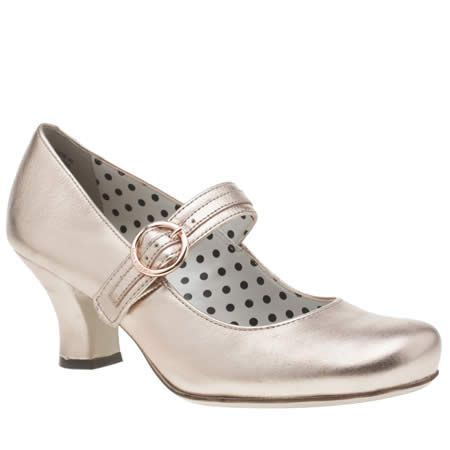 womens hush puppies rose gold philippa buckle low heels