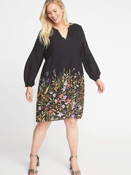 e2743154dc2 Georgette Plus-Size Swing Dress in 2018