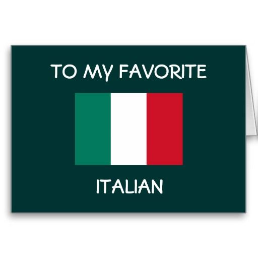 TO MY FAVORITE ITALIAN HAPPY BIRTHDAY CARDS