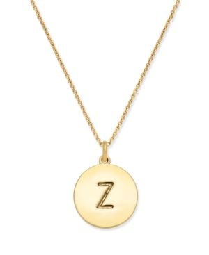 kate spade new york 12k gold plated initials pendant necklace 17 3 extender gold