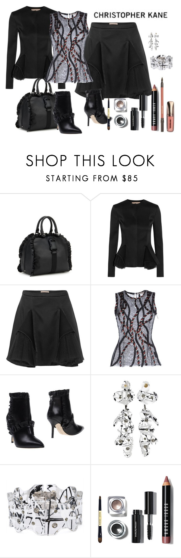 """Black by  Christopher Kane"" by cayla-dy ❤ liked on Polyvore featuring Christopher Kane"